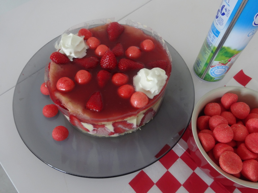 Mon fraisier mousseline vanille (1/6)